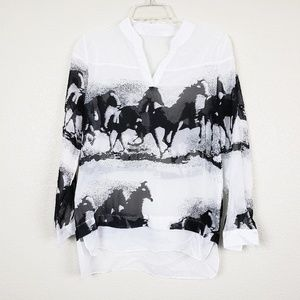 Wild horses sheer top